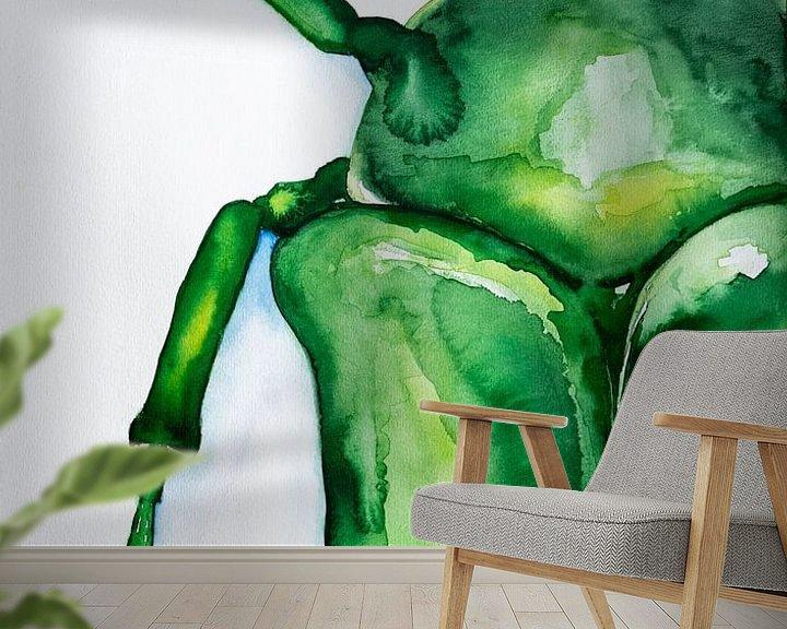 Sfeerimpressie behang: Aquarel Kever van Lianne Landsman