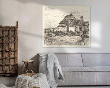Ameland, Hütten bei Nes, Otto Hanrath, 1925 von Atelier Liesjes
