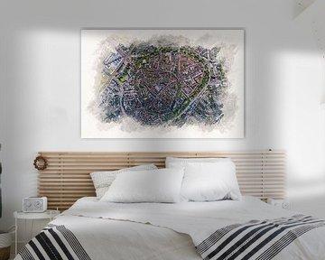 Karte von Amersfoort im Aquarellstil von Aquarel Creative Design