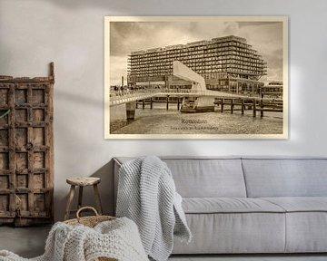 Alte Postkarte Fenix Lagerhaus und Rijnhaven Brücke von Frans Blok