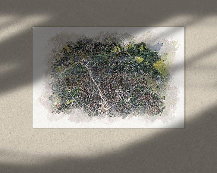 Beispiel: Delft aus der Luft im Aquarellstil von Aquarel Creative Design