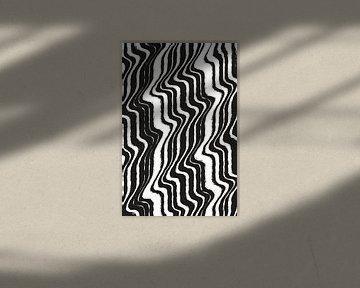 Schwarz und weiß - Abstrakt von Studio Malabar