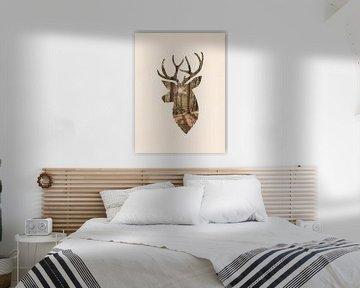 Hirsche und der Wald von MDRN HOME