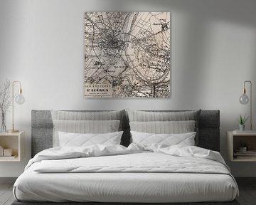 Historische Karte Von Paris St. Germain von Andrea Haase