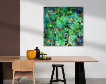 Painterly flower impression.  Abstracte bloemen van Saskia Dingemans