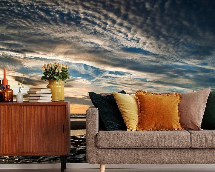 Sfeerimpressie behang: Zonsondergang | Wassenaar van Ricardo Bouman