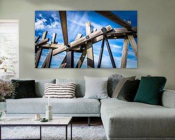 Hölzerne Wrackbrücke Belgien von Danny den Breejen