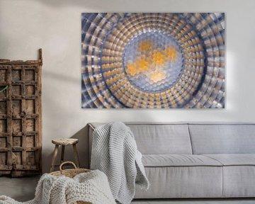 Lichtkreis mit Sechsecken und abstrakten Formen von Lisette Rijkers