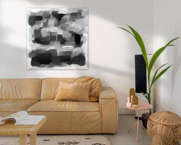 Abstrakte Pinselstriche III von Maurice Dawson