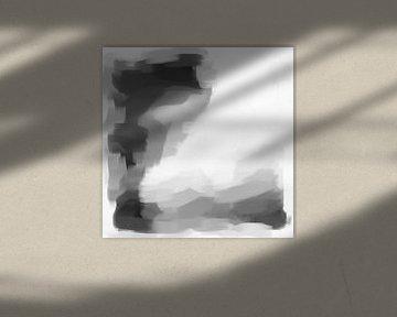 Abstrakte Pinselstriche IX von Maurice Dawson