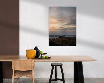 Pier bij zonsondergang van Jan Willem De Vos