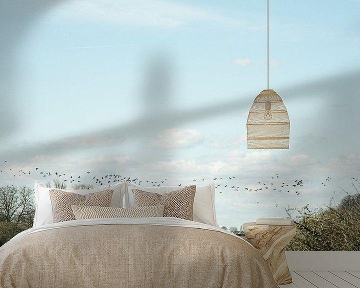 Impression: les oiseaux migrent au-dessus des Pays-Bas sur Jan Willem De Vos