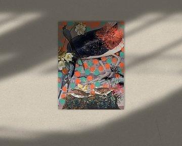 Ibis-Collage von Jadzia Klimkiewicz