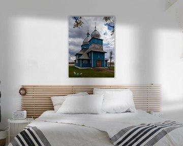 Blaue orthodoxe Kirche, Weißrussland von Adelheid Smitt