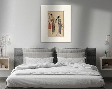 Abende draußen | Historischer Art Deco Mode Druck | Historische Werbung | Retro und Vintage von NOONY
