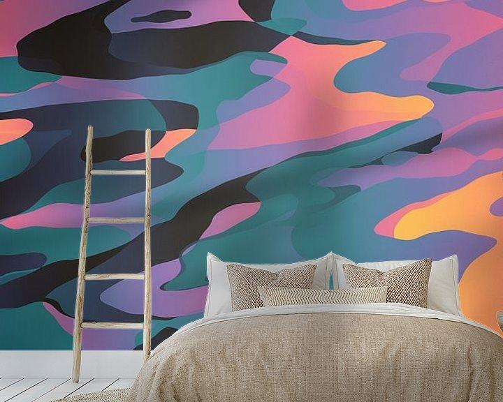 Sfeerimpressie behang: Synthetische dromen van dcosmos art