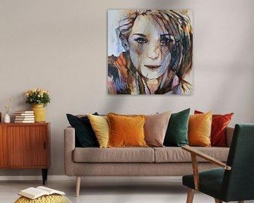"""Weibliches Porträt von Janny Schilderink......Atelier """"de Tuute """""""