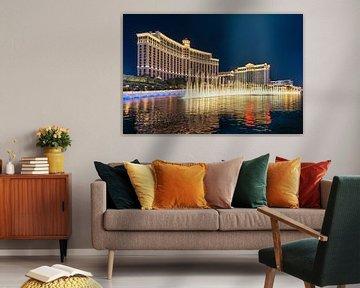Wasserspiele am Hotel Bellagio, The Strip, Las Vegas, Nevada, USA von Markus Lange