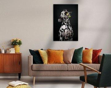 Hund mit Gurke 2/3 von Lotte van Alderen