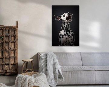 Hund mit Bonbons von Lotte van Alderen