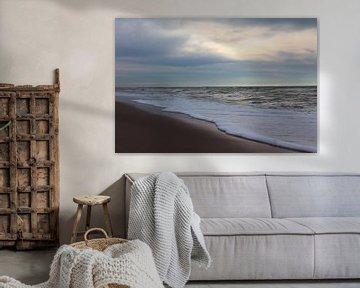 Stapelwolken en zeeschuim op het Maasvlaktestrand van Capture the Moment 010