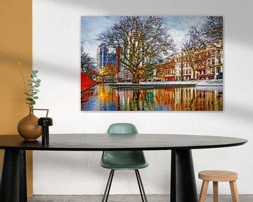 Winterbeeld Westersingel van Frans Blok