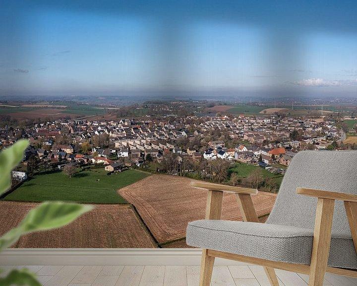 Sfeerimpressie behang: Luchtfoto van Ubachsberg in Zuid-Limburg van John Kreukniet