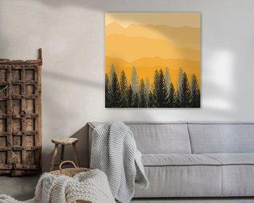 gelbe Berge von Kim van Beveren