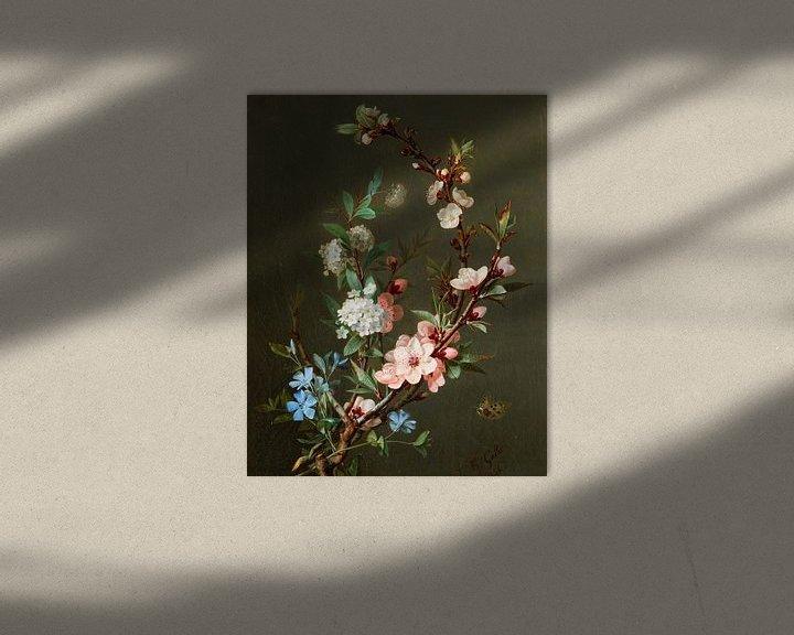 Beispiel: Ein Stillleben mit Kirschblütenzweigen, Jean-Baptiste Gallet