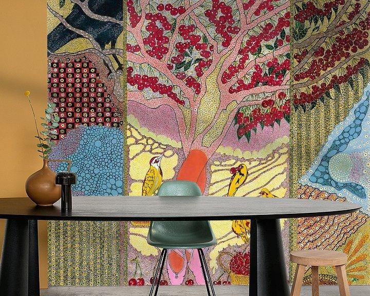 Sfeerimpressie behang: Cherry Dancer van Mohamed Hamida