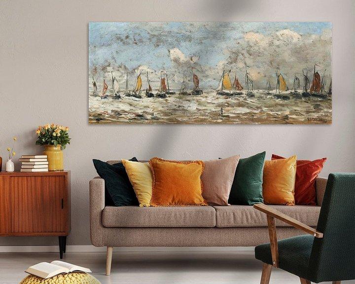Beispiel: Fischereiflotte vor der niederländischen Küste, Hendrik Willem Mesdag