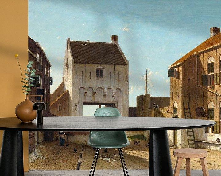 Beispiel fototapete: Ein Stadttor in Leerdam, Jan Weissenbruch
