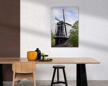 Vieux moulin à vent néerlandais typique sur Robin Verhoef