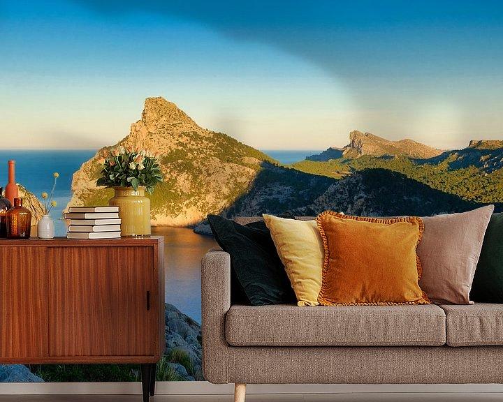 Sfeerimpressie behang: Mirador de Mal Pas - Eiland Mallorca van Andreas Kilian