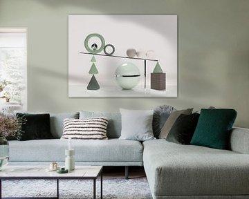 Holzwürfel mit grüner Kugel von shoott photography