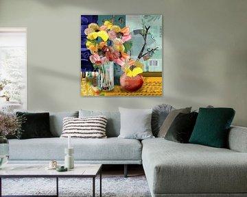 Frühling in Gelb und Rosa von Ruud van Koningsbrugge