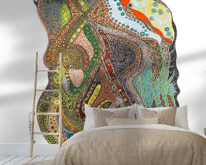 Sfeerimpressie behang: Heavy Burden van Mohamed Hamida