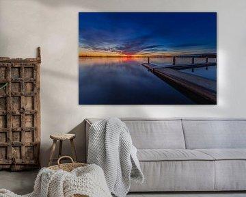 Zonsondergang in Zoetermeer van Tom Roeleveld
