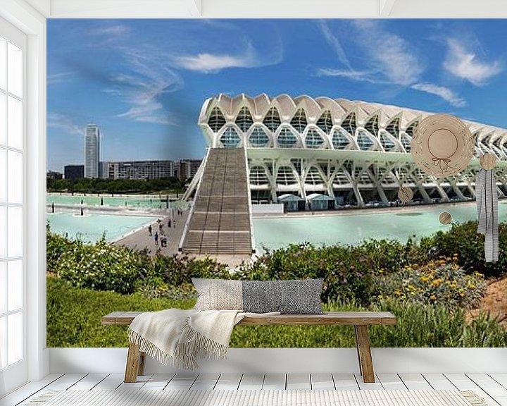 Sfeerimpressie behang: Valencia - Ciudad de las Artes y las Ciencias van Frank Herrmann