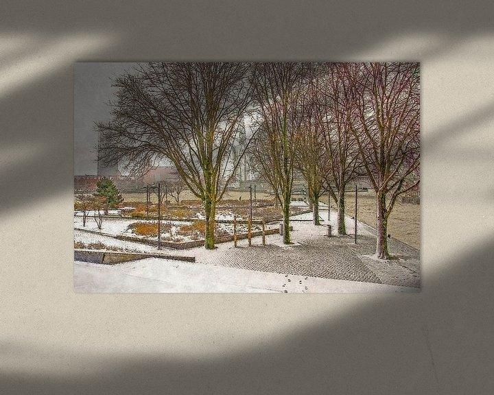 Sfeerimpressie: Winterbeeld Leuvehoofd van Frans Blok