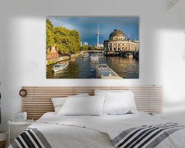 Ausflugsboote auf der Spree in Berlin von Werner Dieterich