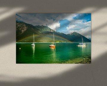 Voiliers dans le lac d'Achensee, Tyrol sur Guenter Purin