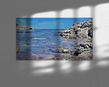 Rotsachtige Kust - Sardinië - Baia Sardinia- Costa Smeralda - Schilderij