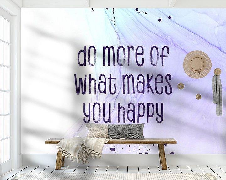 Sfeerimpressie behang: Do more of what makes you happy   floating colors van Melanie Viola