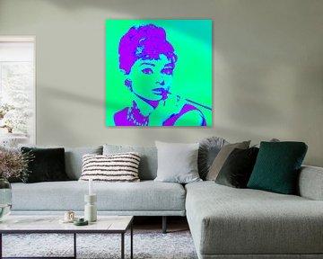 Audrey Hepburn von Kathleen Artist Fine Art