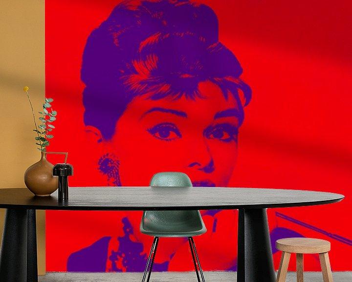 Beispiel fototapete: Audrey Hepburn von Kathleen Artist Fine Art