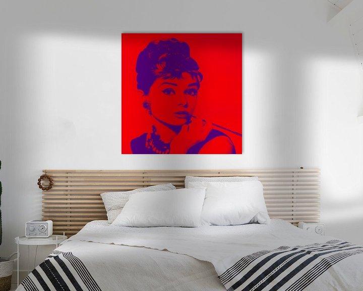 Beispiel: Audrey Hepburn von Kathleen Artist Fine Art