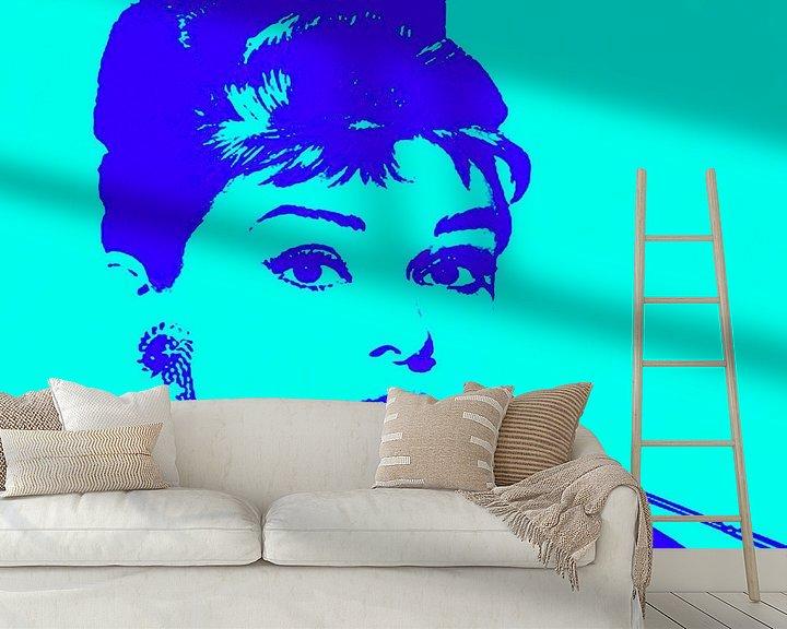 Beispiel fototapete: Audrey Hepburn - Vibes von Kathleen Artist Fine Art