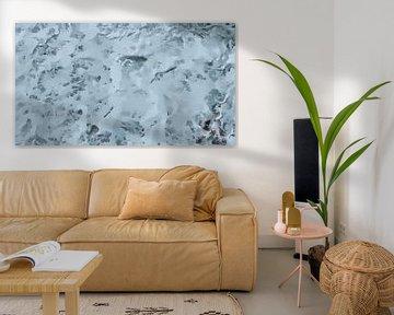 Schuimend Zeewater - Zeeschuim - Witte Watervlakte - Schilderij