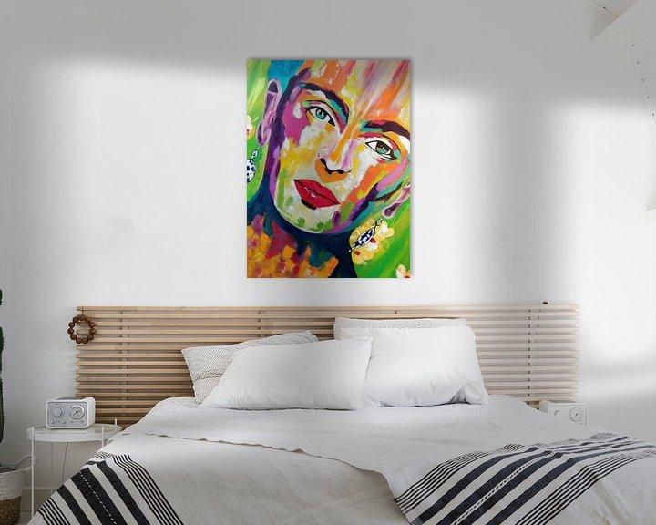 """Beispiel: Frida Kahlo """"Gesicht"""" von Kathleen Artist Fine Art"""